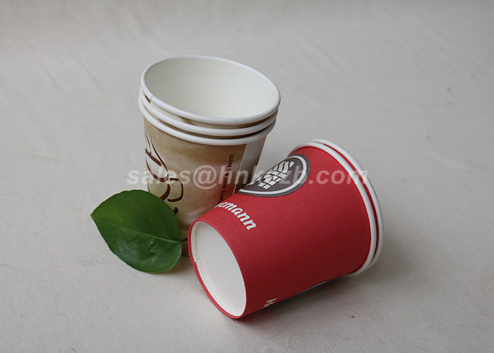 Multi Color 9oz Disposable Paper Cups For Coffee / Tea With Logo Printing