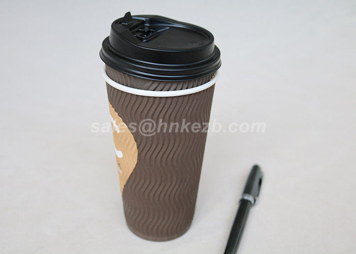 Biodegradable Eco Friendly Disposable Coffee Cups With Lids For Espresso / Tea