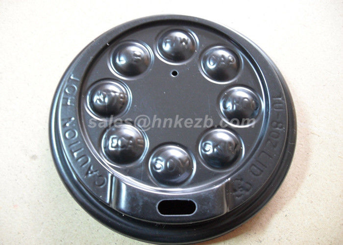 Black Disposable Coffee mug lid For 8oz / 12oz Coffee Cup PS Material