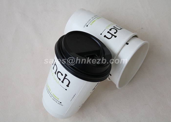 Customized White Paper Vending Cups , Disposable Coffee Cup For Hot / Cold Drink